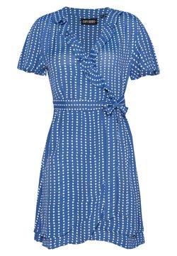 Superdry - SUMMER WRAP DRESS - Day dress - blue