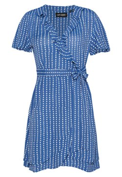 Superdry - SUMMER WRAP DRESS - Robe d'été - blue