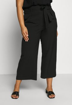 ONLY Carmakoma - CARICOLE CULOTTE WIDE PANTS - Stoffhose - black