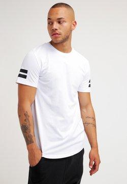 Jack & Jones - JCOBORO CREW NECK SLIM FIT  - T-Shirt print - white