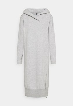 PIECES Tall - PCLEDA HOODIE DRESS  - Vapaa-ajan mekko - light grey melange