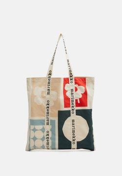 Marimekko - CO CREATED IGELIN - Shopping bag - off white/green/red