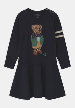 Polo Ralph Lauren - BEAR  - Strickkleid - navy