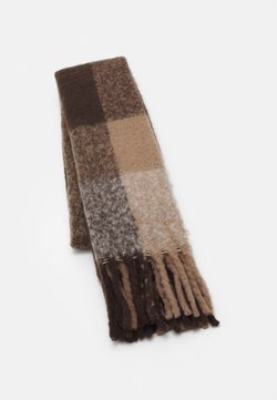 Pieces - PCBEA LONG SCARF - Sjaal - white/grey/natural