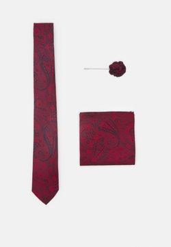 Burton Menswear London - TIE HANKIE AND PIN SET - Krawatte - red