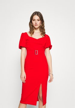 WAL G. - EMMA BUCKLE MIDI DRESS - Jersey dress - red