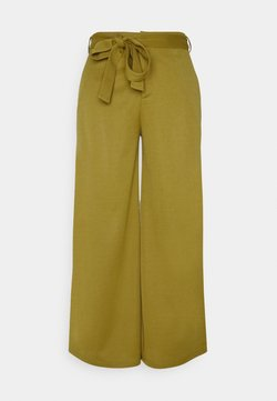 Anna Field - BELTED WIDE LEG TROUSERS  - Stoffhose - green