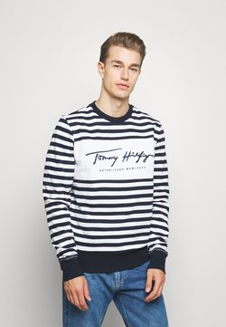 Tommy Hilfiger - COOL SIGNATURE - Sweatshirt - dark blue/white