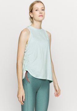 Under Armour - CHARGED TANK - Funktionsshirt - seaglass blue
