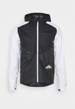 Nike Performance - TRAIL WINDRUNNER  - Sports jacket - black/smoke grey/white