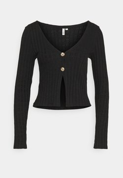 Nly by Nelly - BUTTON DOWN CARDIGAN - Gilet - black