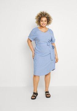 ONLY Carmakoma - CARBLUE DRESS - Freizeitkleid - colony blue/white