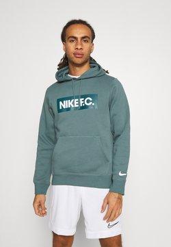 Nike Performance - FC HOODIE - Hoodie - hasta/dark teal green/white