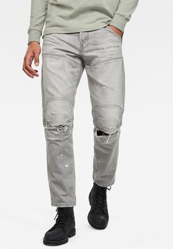 G-Star - RELAXED TAPERED - Jeans Tapered Fit - sun faded ripped pewter grey