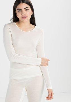 Hanro - PURE SILK  - Pyjama top - pale cream