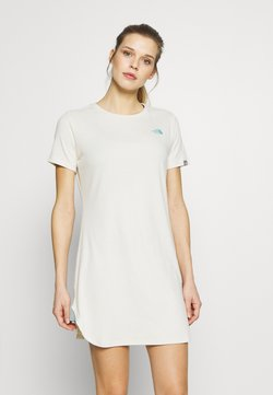 The North Face - WOMENS SIMPLE DOME TEE DRESS - Jerseyjurk - vintage white