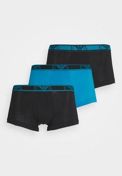 Emporio Armani - TRUNK 3 PACK - Shorty - nero/pop turquoise