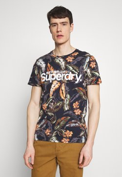 Superdry - TEE - T-Shirt print - indo navy