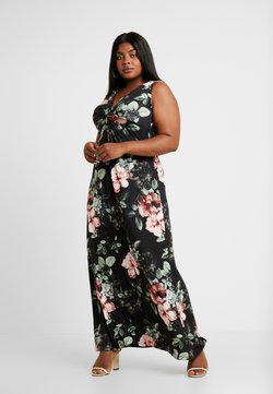 Anna Field Curvy - Maxikjoler - black/rose/dark green