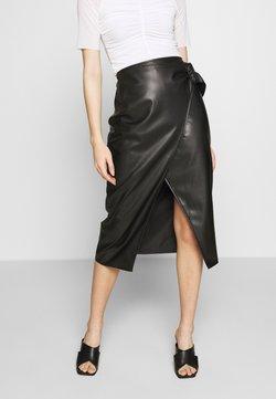 Who What Wear - THE VEGAN SARONG SKIRT - A-linjainen hame - black
