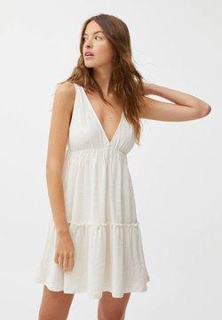 PULL&BEAR - Sukienka letnia - mottled beige
