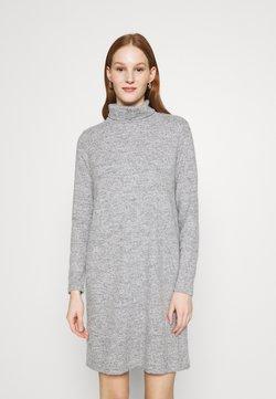 Pieces - PCPAM HIGH NECK DRESS - Neulemekko - light grey melange