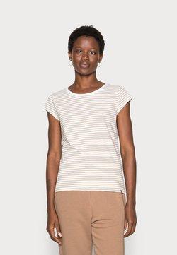 Mads Nørgaard - ORGANIC FAVORITE STRIPE TEASY - T-Shirt print - white/kelp