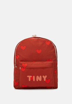 TINYCOTTONS - HEARTS BIG BACKPACK - Reppu - sienna/red