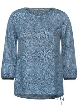 Cecil - MIT ZEBRA-PRINT - Bluse - blau