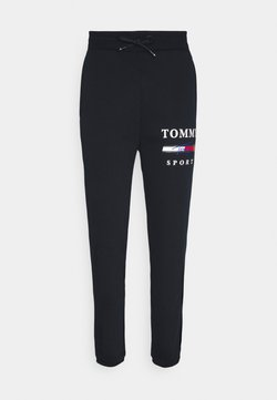 Tommy Sport - GRAPHIC PANT CUFFED - Jogginghose - blue