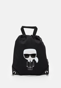 KARL LAGERFELD - IKONIK FLAT BACKPACK - Plecak - black