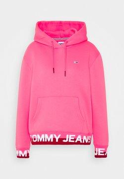 Tommy Jeans - BRANDED HEM HOOD - Kapuzenpullover - glamour pink