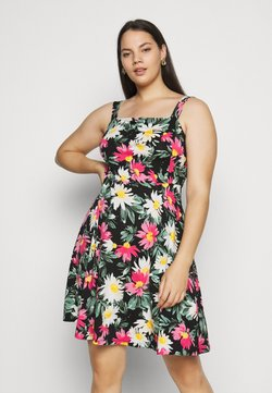 Dorothy Perkins Curve - STRAPPY FLORAL DRESS - Freizeitkleid - multi-coloured