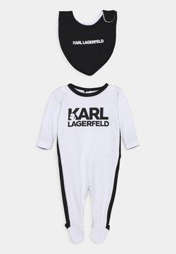 KARL LAGERFELD - BIB BABY UNISEX - Strampler - white/black