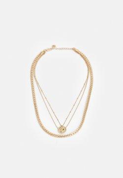 Pieces - PCBLANCA COMBI NECKLACE - Necklace - gold-coloured/black