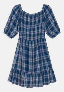 Marks & Spencer London - CHECKED DRESS - Freizeitkleid - blue