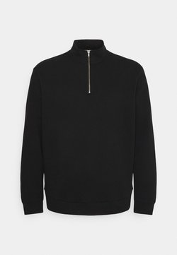 Only & Sons - ONSCERES LIFE HALF ZIP - Sweater - black
