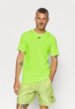 4F - Men's training T-shirt - T-Shirt print - neon yellow