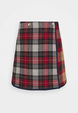 Tommy Hilfiger - ICON CHECK SKIRT - A-linjainen hame - red