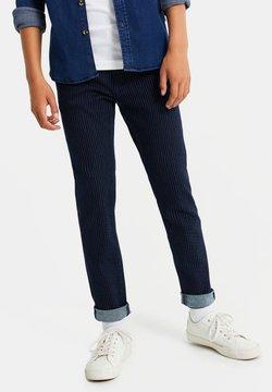 WE Fashion - MET STREEPDESSIN - Jeans Slim Fit - dark blue