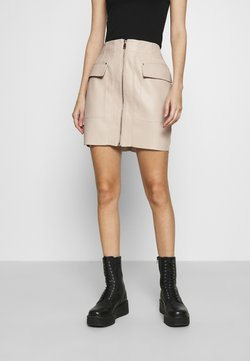 Nly by Nelly - ZIP FRONT SKIRT - Mini skirt - creme