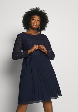 Chi Chi London Curvy - RENE DRESS - Cocktailkleid/festliches Kleid - navy