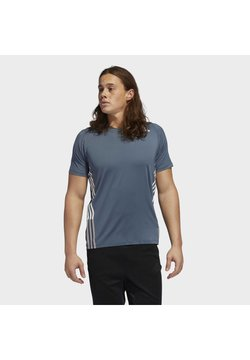 adidas Performance - FREELIFT 3-STRIPES T-SHIRT - Camiseta estampada - green