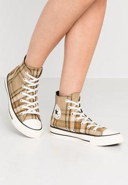 Converse - CHUCK TAYLOR ALL STAR - Sneakers hoog - khaki/black/egret