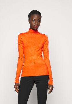 Dorothy Perkins Tall - PEARL BUTTON CUFF ROLL NECK - Neule - orange
