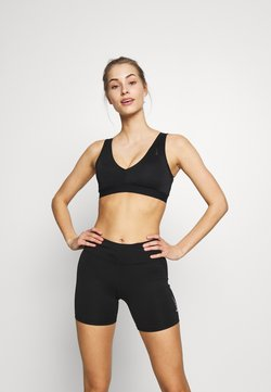 Nike Performance - FAVORITES NOVELTY BRA - Urheiluliivit - black/smoke grey