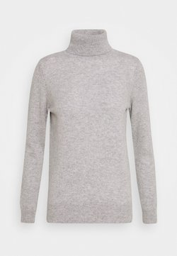 Davida Cashmere - TURTLENECK - Stickad tröja - light grey