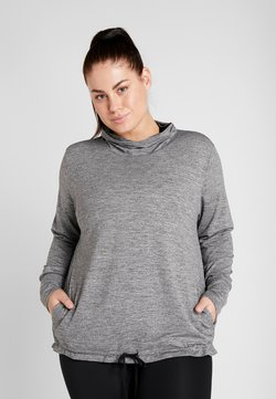 Nike Performance - YOGA FUN PLUS - Camiseta de deporte - black/heather/anthracite