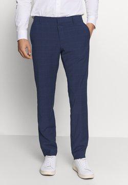 Tommy Hilfiger Tailored - FLEX SLIM FIT CHECK PANT - Pantalon - black