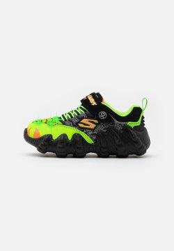 Skechers - SKECH-O-SAURUS LIGHTS - Sneaker low - black/lime/orange
